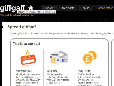 Giffgaff Web Site