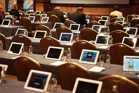 AMBA Conference. iPads instead of binders