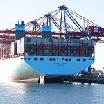 The world's biggest container ship