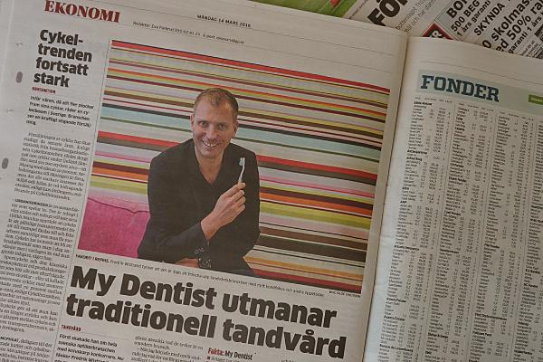 Fredrik Wistrand, Executive MBA graduate 2016 and founder of MyDentist