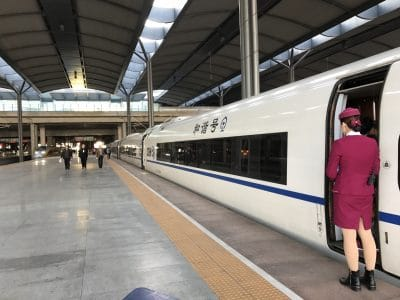 Chinese High Speed Train awaiting departure