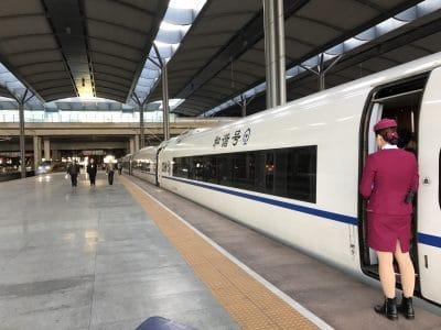 Chinese High Speed Train awaiting departure